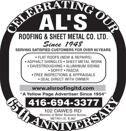 Ads Al's Roofing & Sheet Metal Co Ltd
