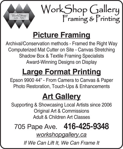Ads Workshop Gallery & Framing