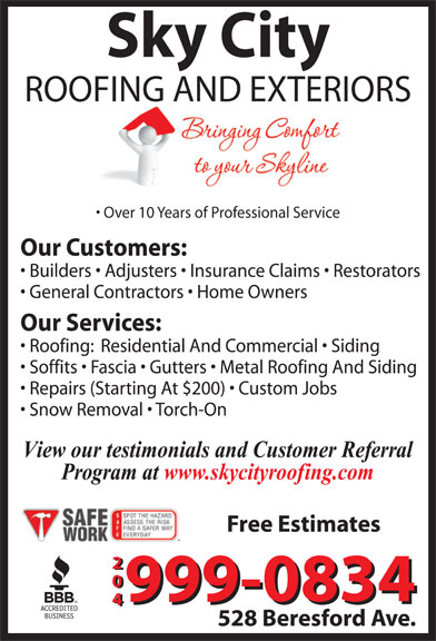 Ads Sky City Roofing