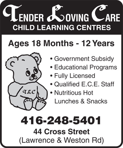 Ads Tender Loving Care Child Learning Centres