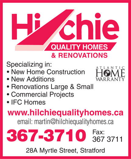 Ads Hilchie Quality Homes