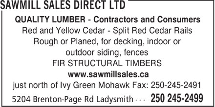 Ads Sawmill Sales Direct Ltd