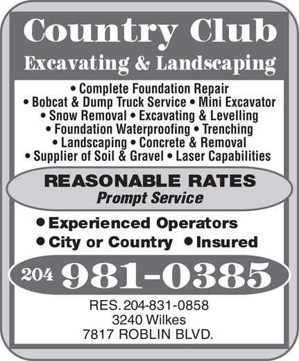 Ads Country Club Excavating & Landscaping