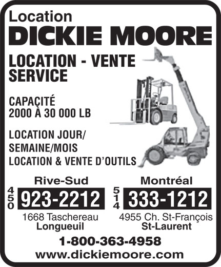 Ads Centre De Location Dickie Moore Lte