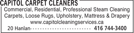 Ads Capitol Carpet Cleaners