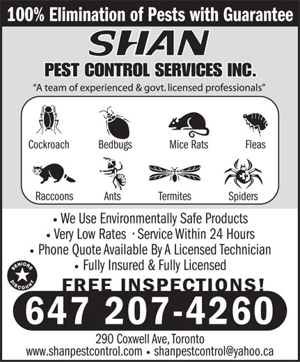 Ads Shan Pest Control Services Inc