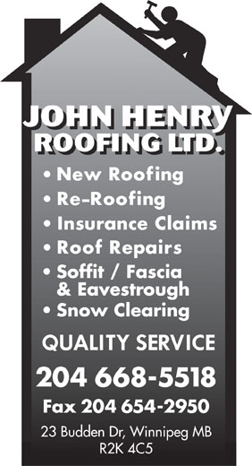 Ads John Henry Roofing Ltd