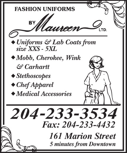 Ads Fashion Uniforms By Maureen Ltd