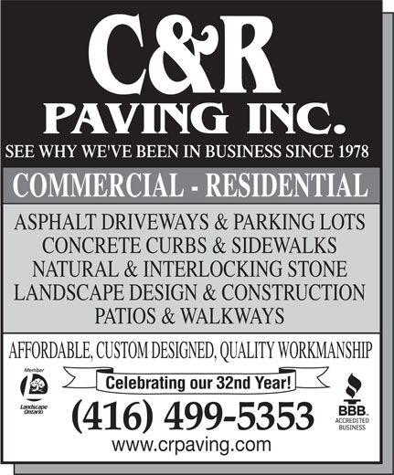 Ads C &amp; R Paving Inc