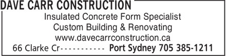 Ads Dave Carr Construction