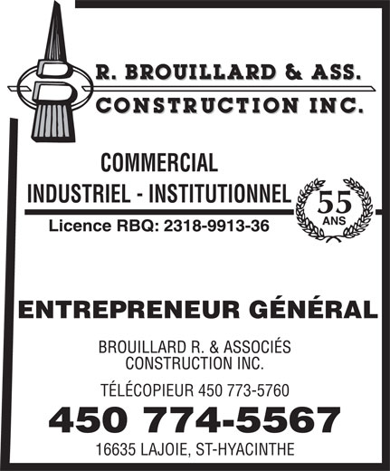 Ads Construction Brouillard R & Associés Inc