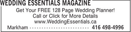 Ads Wedding Essentials Magazine