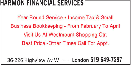Ads Harmon Financial Services