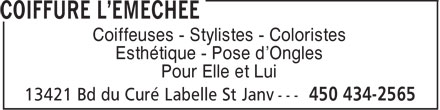 Ads Coiffure L&#039;Emche