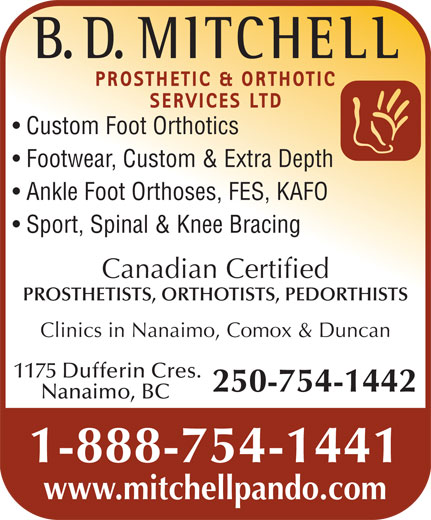 Ads B D Mitchell Prosthetic & Orthotic Services Ltd