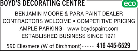 Ads Boyd's Decorating Centre