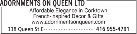 Ads Adornments On Queen Ltd