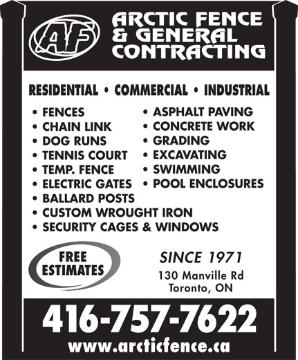 Ads Arctic Fence &amp; General Contracting