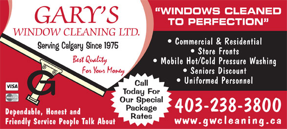 Ads Gary's Window Cleaning Ltd