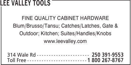 Ads Lee Valley Tools Ltd