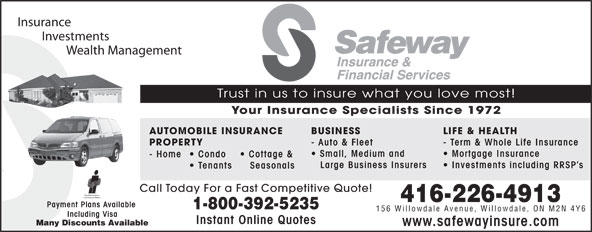 Ads Safeway Insurance & Financial Services