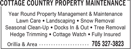 Ads Cottage Country Property Maintenance