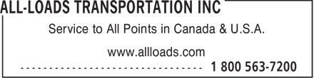 Ads All-Loads Transportation Inc