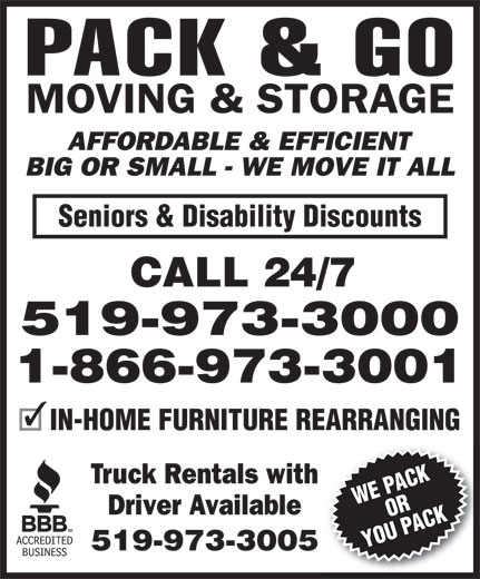 Ads Pack &amp; Go Moving &amp; Storage