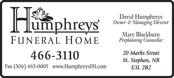 Ads Humphreys Funeral Home