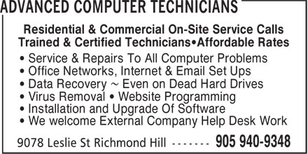 Ads Advanced Computer Technicians