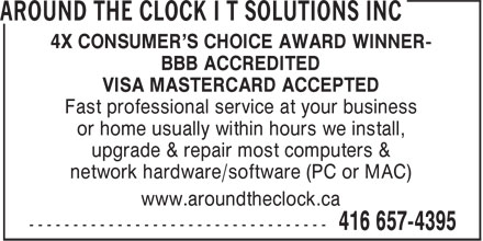 Ads Around The Clock I T Solutions Inc