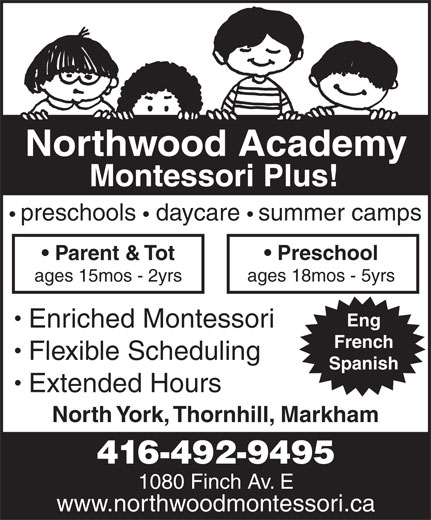 Ads Northwood Academy Montessori Plus
