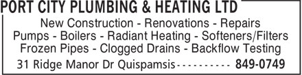 Ads Port City Plumbing & Heating Ltd