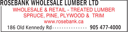 Ads Rosebank Wholesale Lumber Ltd