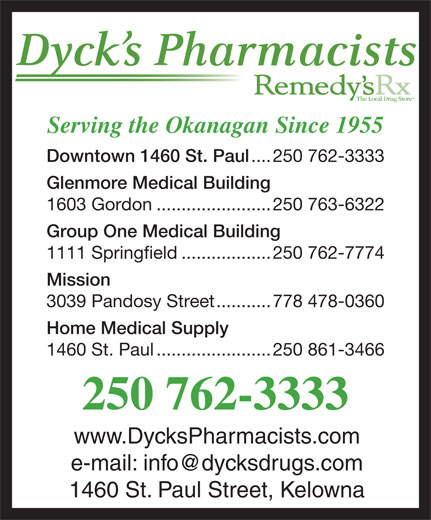 Ads Dyck&#039;s Pharmacists