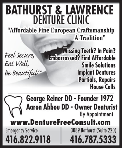 Ads Bathurst & Lawrence Denture Clinic
