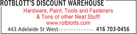 Ads Rotblott's Discount Warehouse