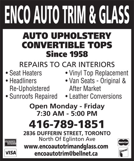 Ads Enco Auto Trim &amp; Glass