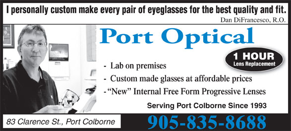 Ads Port Optical Family Eyecare Centre