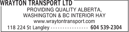 Ads Wrayton Transport Ltd