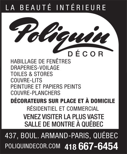 Ads Poliquin Decor