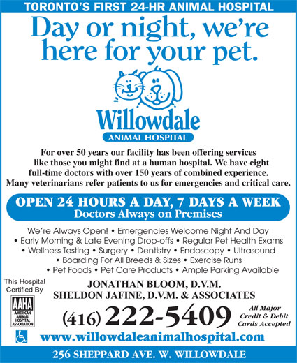 Ads Willowdale Animal Hospital