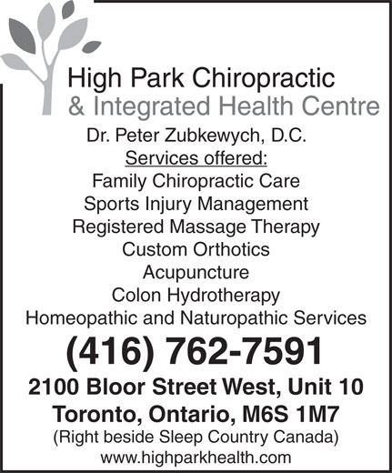 Ads High Park Chiropractic Clinic