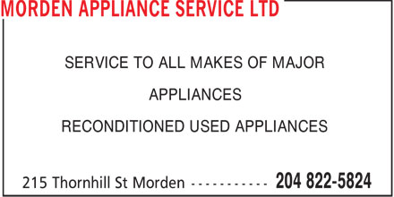 Ads Morden Appliance Service Ltd