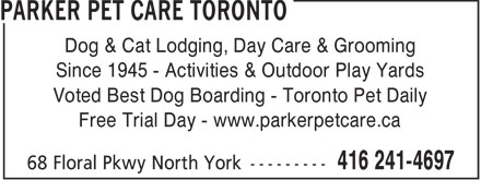 Ads Parker Pet Care