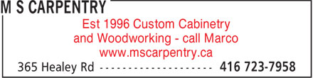 Ads M S Carpentry
