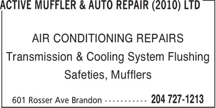 Ads Active Muffler & Auto Repair (2010) Ltd