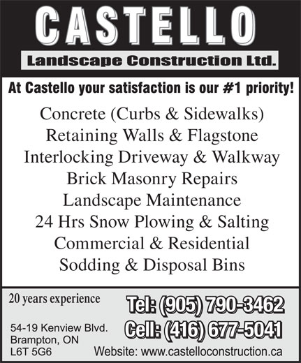 Ads Castello Landscape Constructio