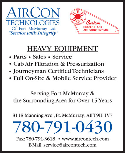 Ads Aircon Technologies Of Fort Mcmurray Ltd