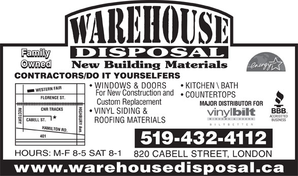 Ads Warehouse Disposal Building Materials